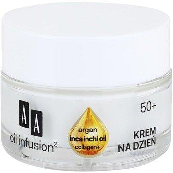 AA Cosmetics Oil Infusion2 Argan Inca Inchi 50+ denní liftingový krém proti vráskám  50 ml