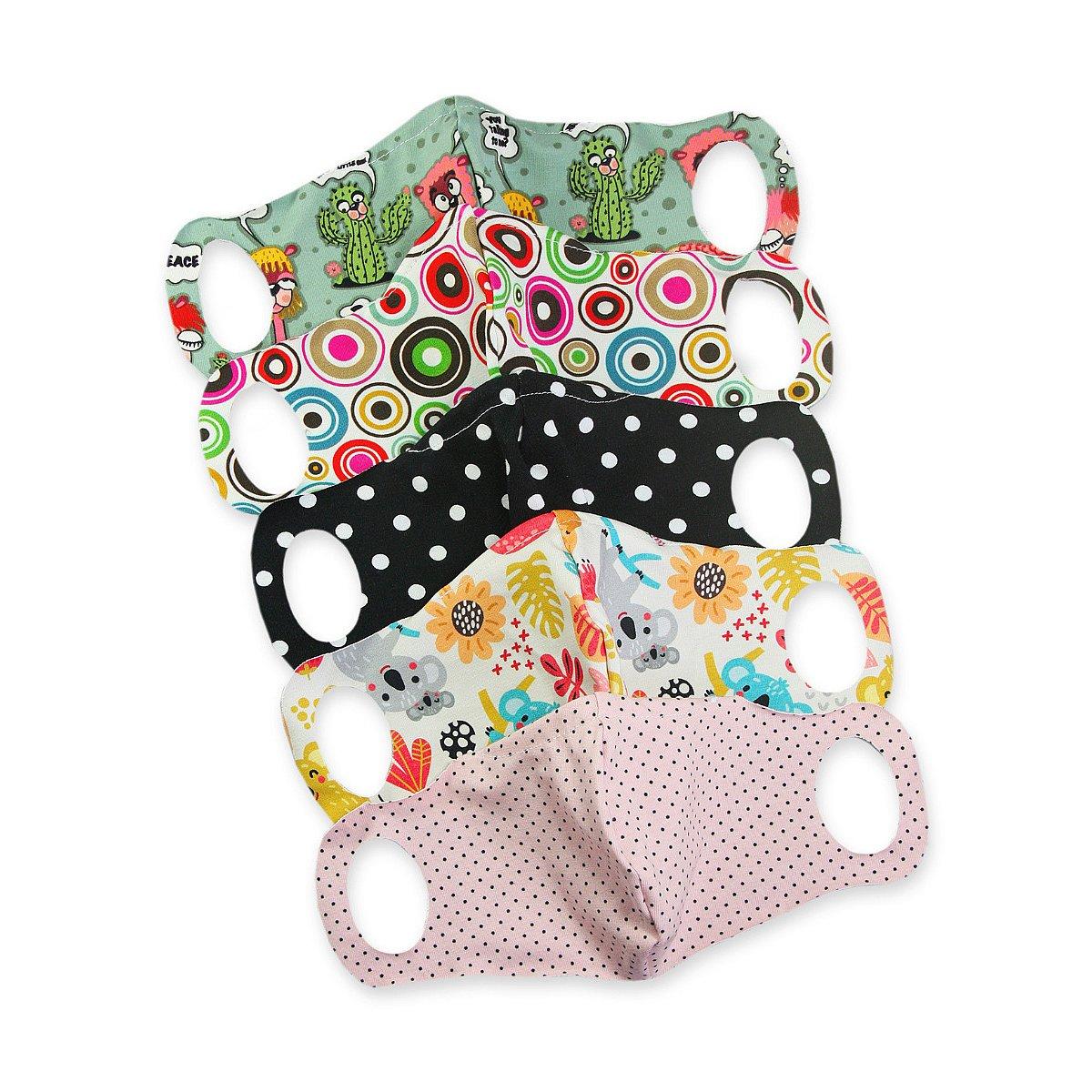 5x Petit Lulu Komfortní rouška s drátkem vel. L