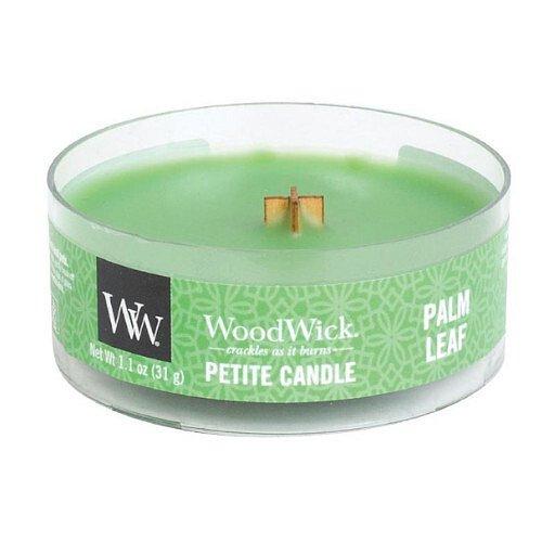 WoodWick Aromatická malá svíčka s dřevěným knotem Palm Leaf  31 g