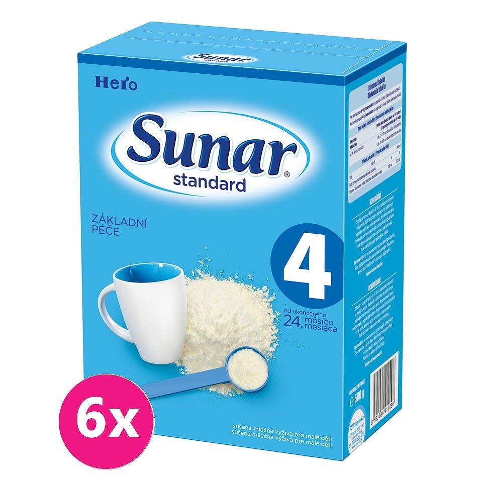 6x SUNAR Standard 4 (500g) – kojenecké mléko