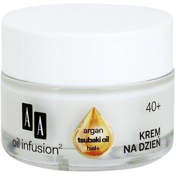 AA Cosmetics Oil Infusion2 Argan Tsubaki 40+ denní krém pro obnovu pevnosti pleti s protivráskovým účinkem Hial+ 50 ml