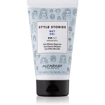 Alfaparf Milano Style Stories The Range Gel gel na vlasy s mokrým efektem střední zpevnění Wet Gel 150 ml