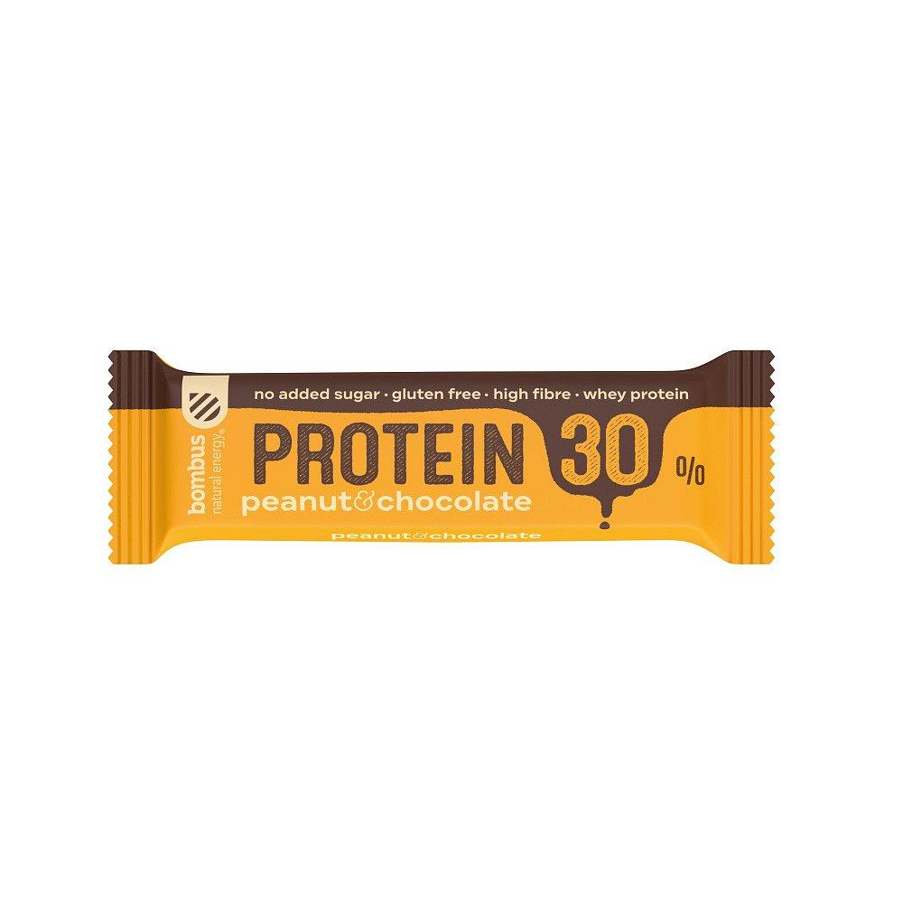 BOMBUS Protein 30% arašídy a čokoláda 50 g