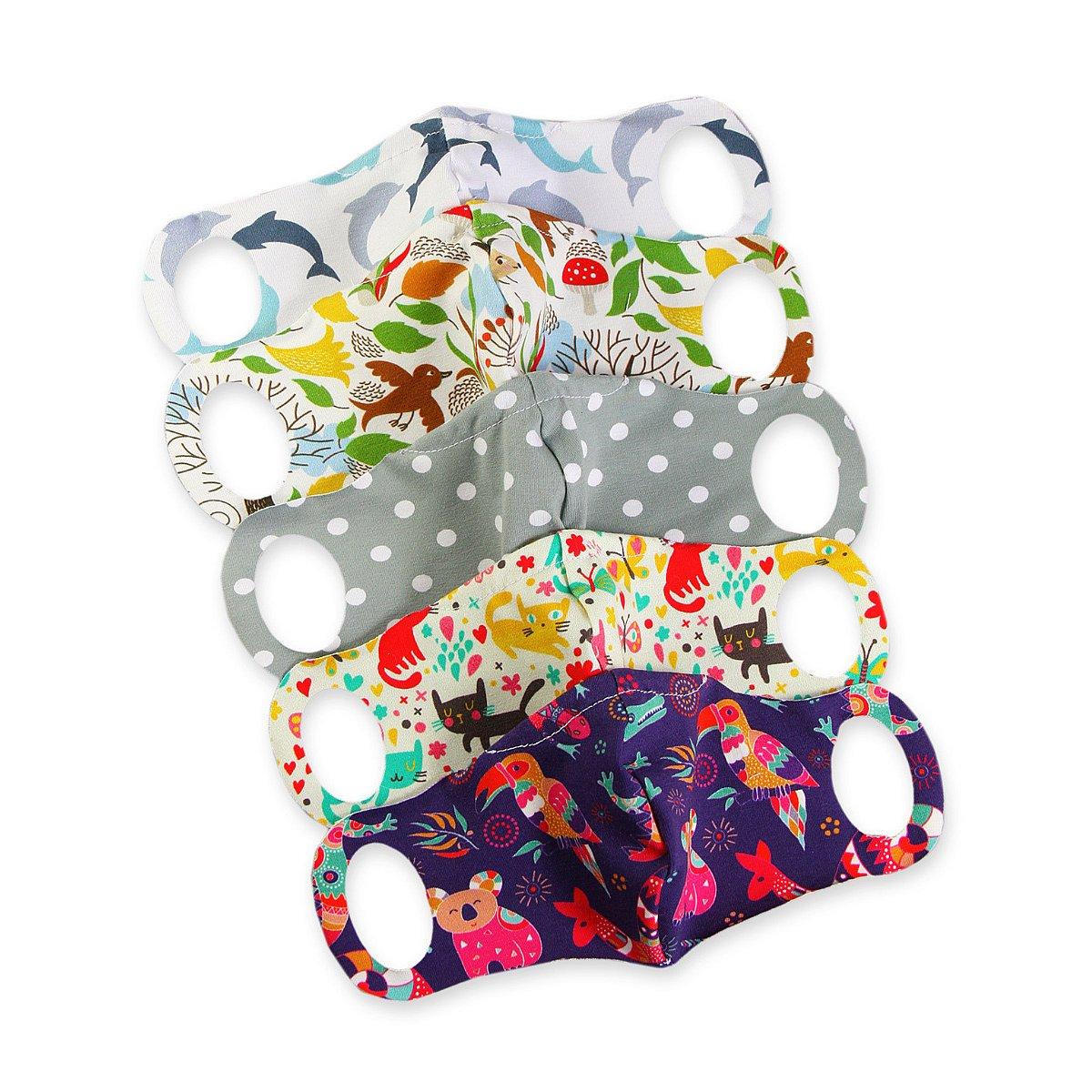 5x Petit Lulu Komfortní rouška s drátkem pro malé děti vel. XXS