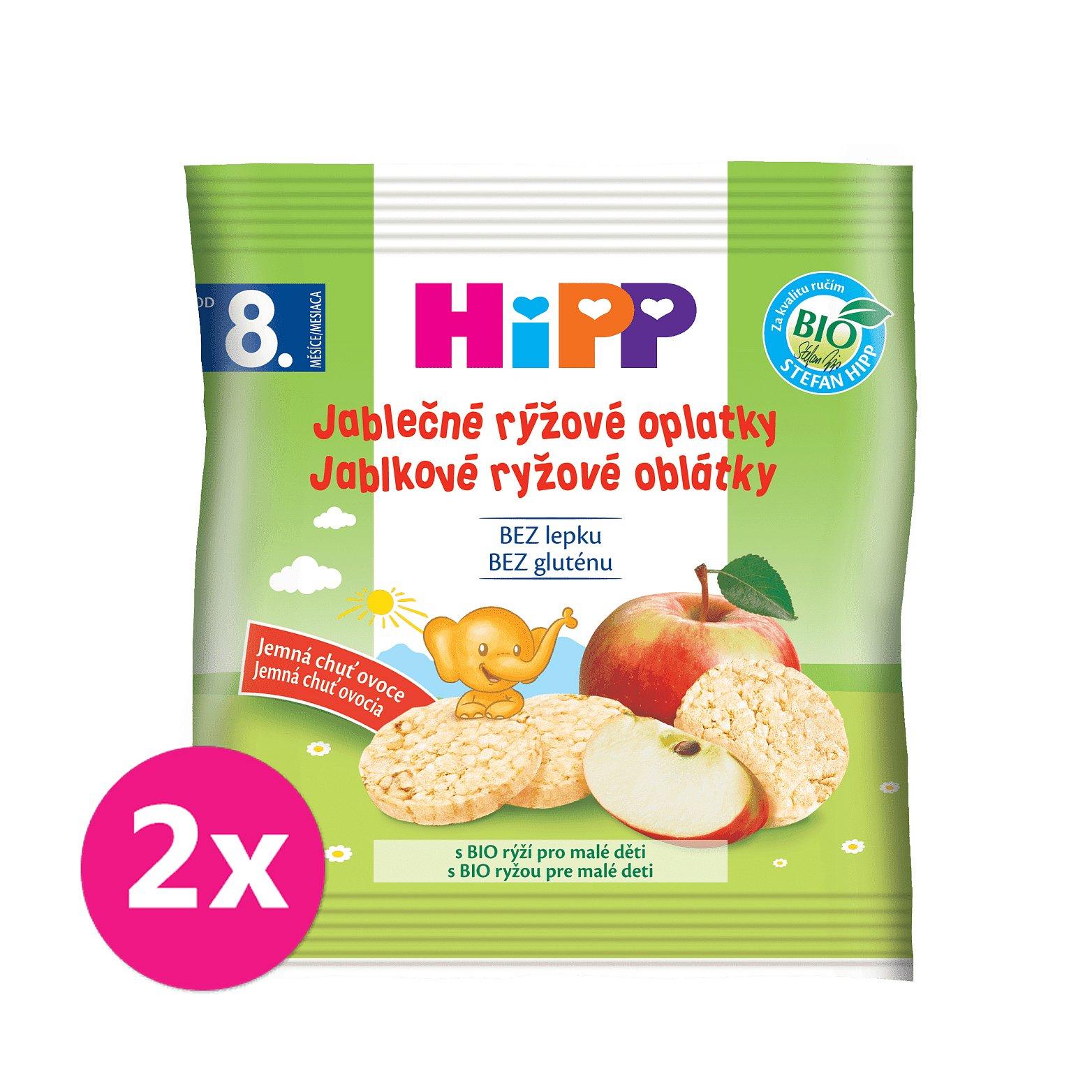 2x HIPP BIO Oplatky dětské rýžové jablkové 30g