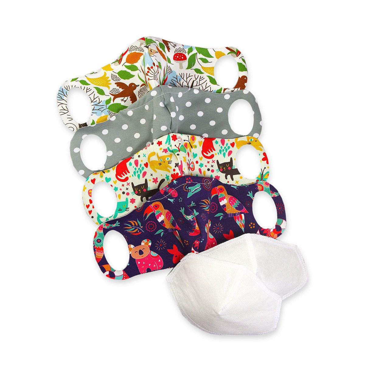 4x Petit Lulu rouška pro děti vel. XS + 2x nanofiltr