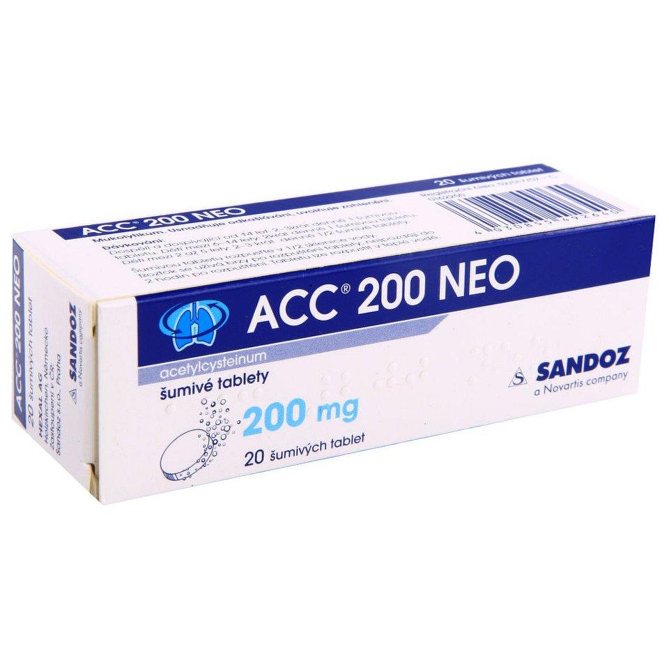 ACC 200 NEO 200MG šumivá tableta 20