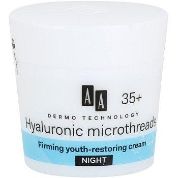 AA Cosmetics Dermo Technology Hyaluronic Microthreads  omlazující a vyhlazující noční krém 35+  50 ml