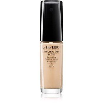 Shiseido Makeup Synchro Skin Glow Luminizing Fluid Foundation rozjasňující make-up SPF 20 odstín Golden 2 30 ml