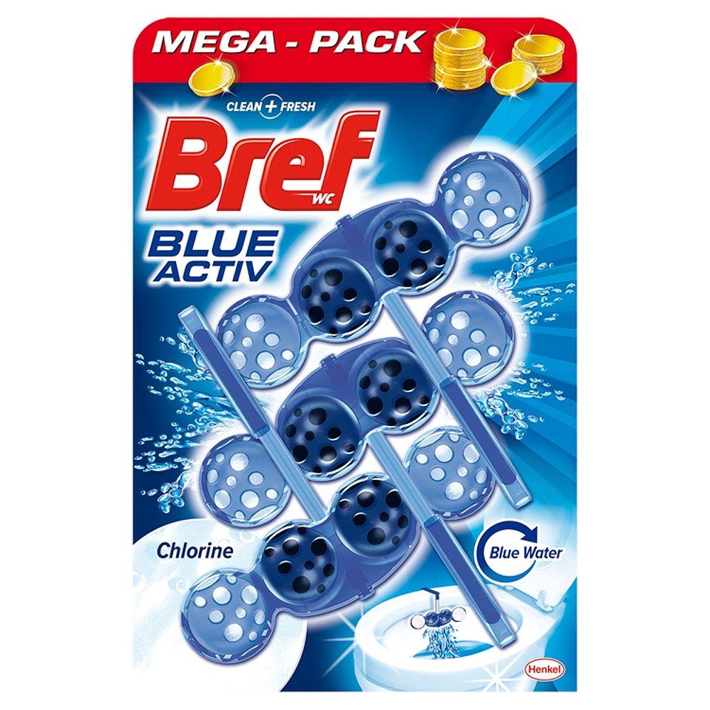 BREF Blue Aktiv Chlorine WC blok 3x50 g