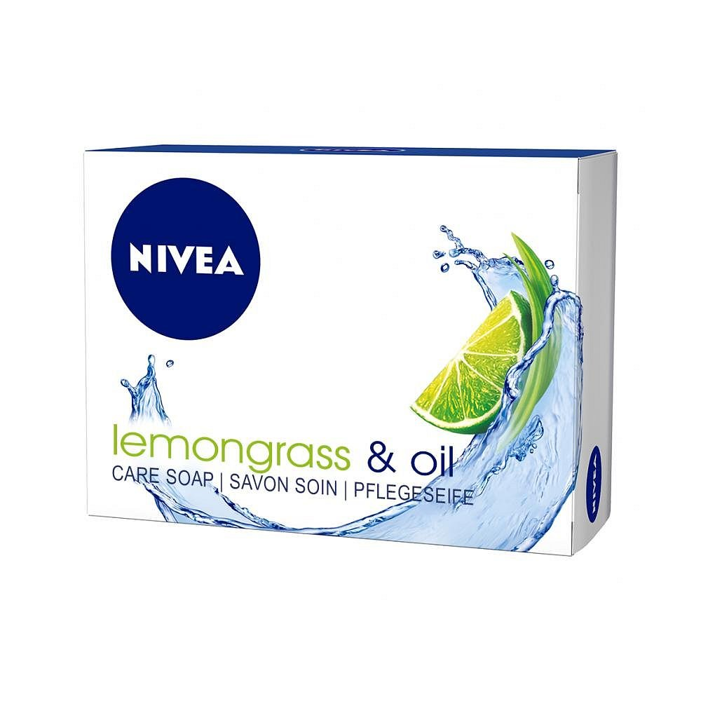 Nivea Lemongrass & Oil tuhé krémové mýdlo 100 g