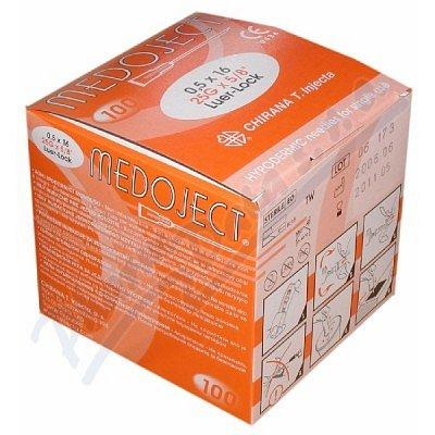 Inj.jehla 0.50x16 oranžová Chirana 100ks jednoráz. - II.jakost