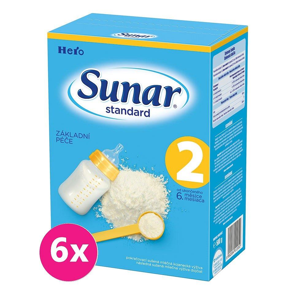6x SUNAR Standard 2 (500g) – kojenecké mléko