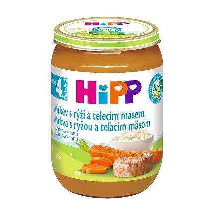 HIPP BABY MENU BIO karotka s rýží a telecím masem 190g