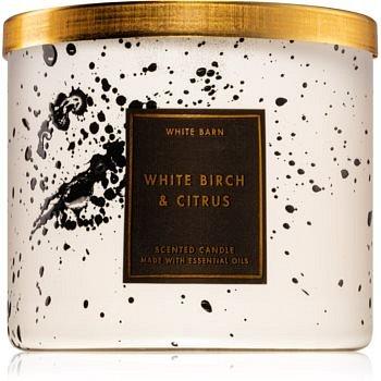 Bath & Body Works White Birch & Citrus vonná svíčka 411 g