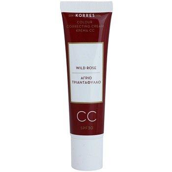 Korres Wild Rose rozjasňující CC krém SPF 30 odstín Medium  30 ml