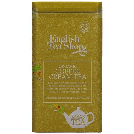 English Tea Shop Dárková plechovka luxusních čajů 15 pyram. s příchutí Káva smetana