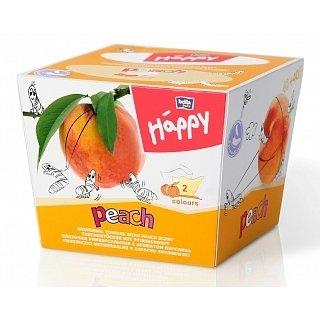 Happy dětské papírové kapesníčky 80ks - Broskev