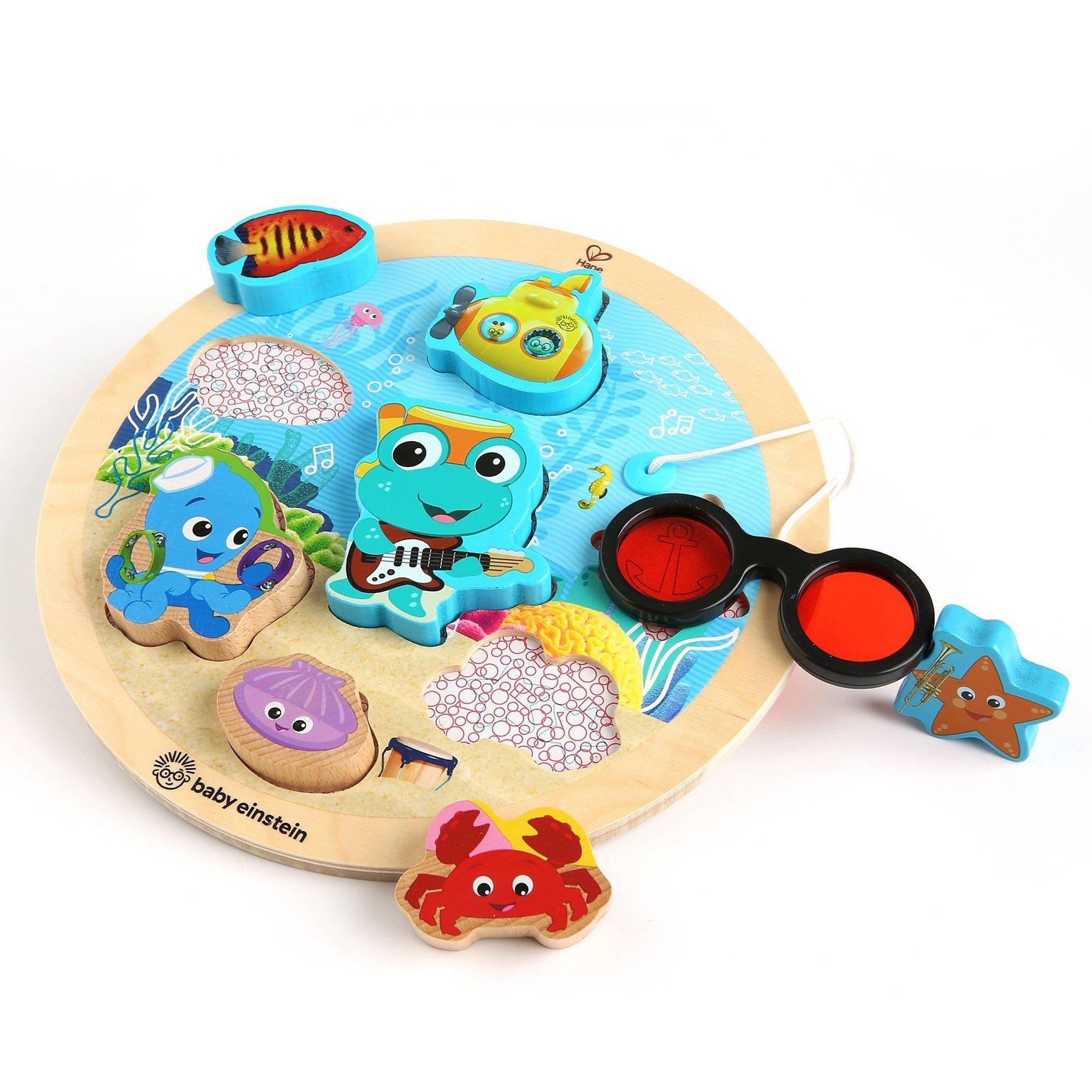 BABY EINSTEIN Hračka dřevěná puzzle Submarine Adventure 18m+