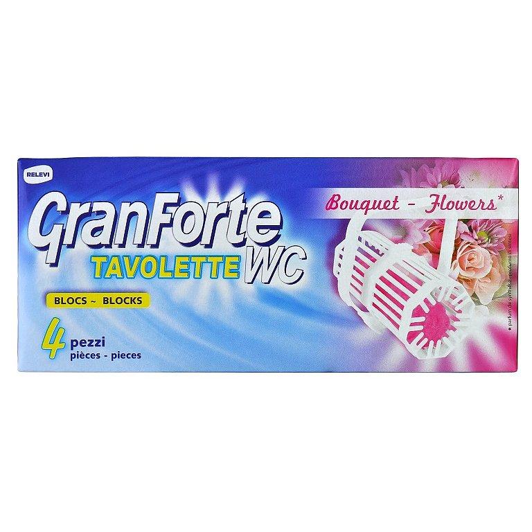 GranForte WC blok s květinovou vůní 4 ks
