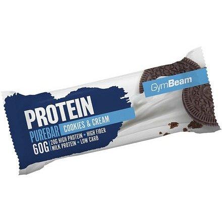 GymBeam Protein PureBar white chocolate raspberry 60g
