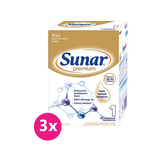 3x SUNAR Premium 1, 600 g