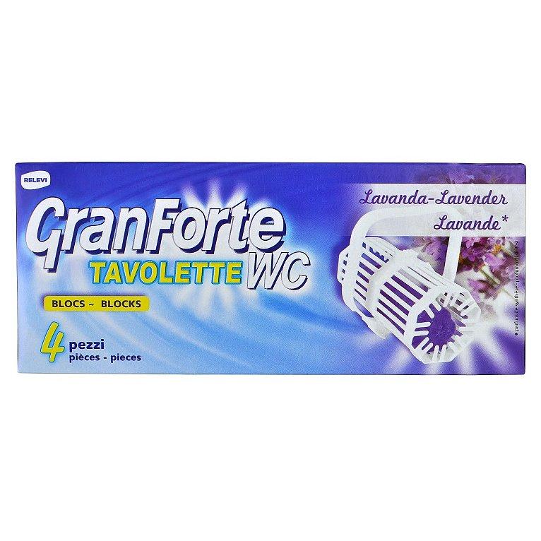 GranForte WC blok s levandulovou vůní 4 ks