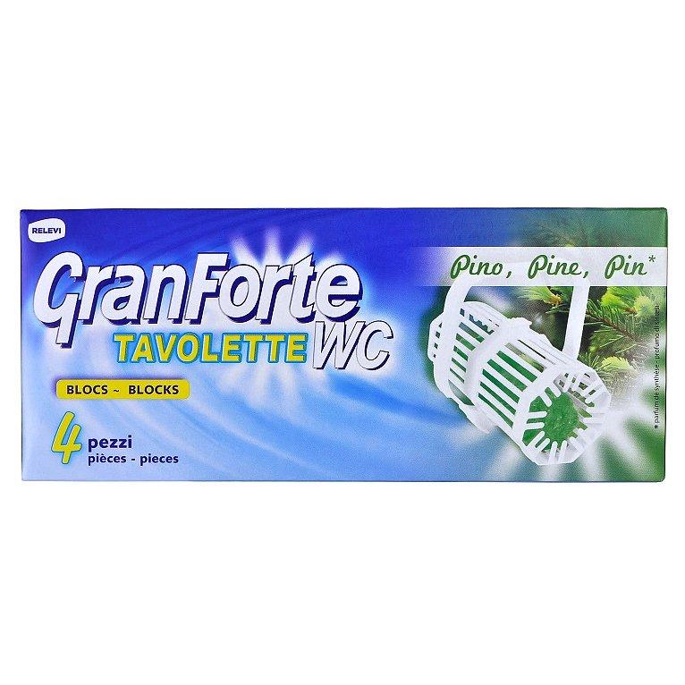 GranForte WC blok s vůní borovice 4 ks
