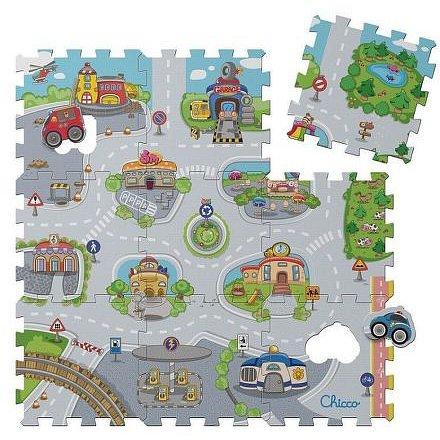 Pěnové puzzle Mesto 30x30 cm, 9 ks