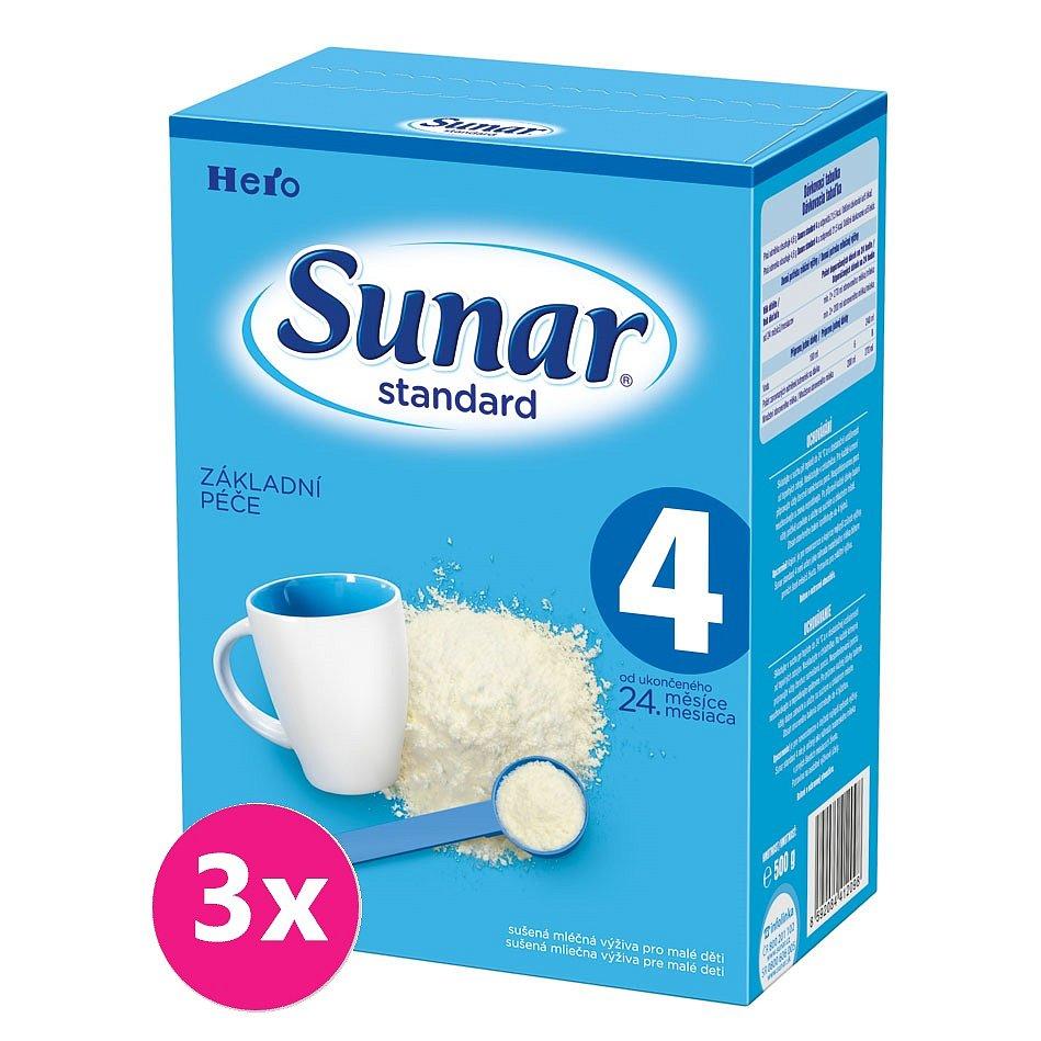 3x SUNAR Standard 4 (500g) – kojenecké mléko