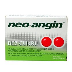Neo-angin BEZ CUKRU 24 tablet