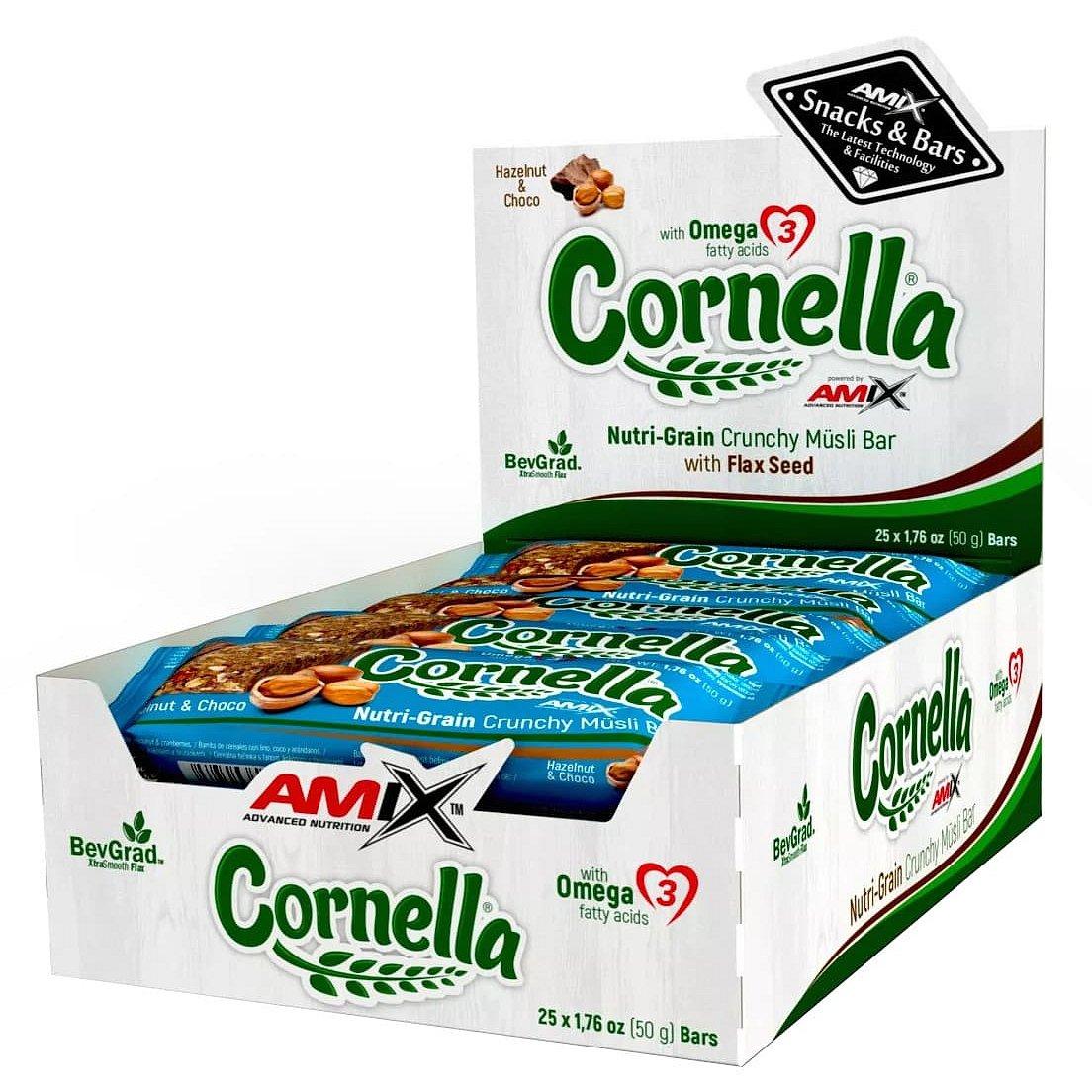 Amix Cornella bar, Lískový ořech-Čokoláda 25x50g