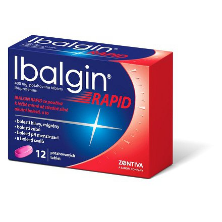 Ibalgin Rapid perorální tablety film  12 x 400 mg