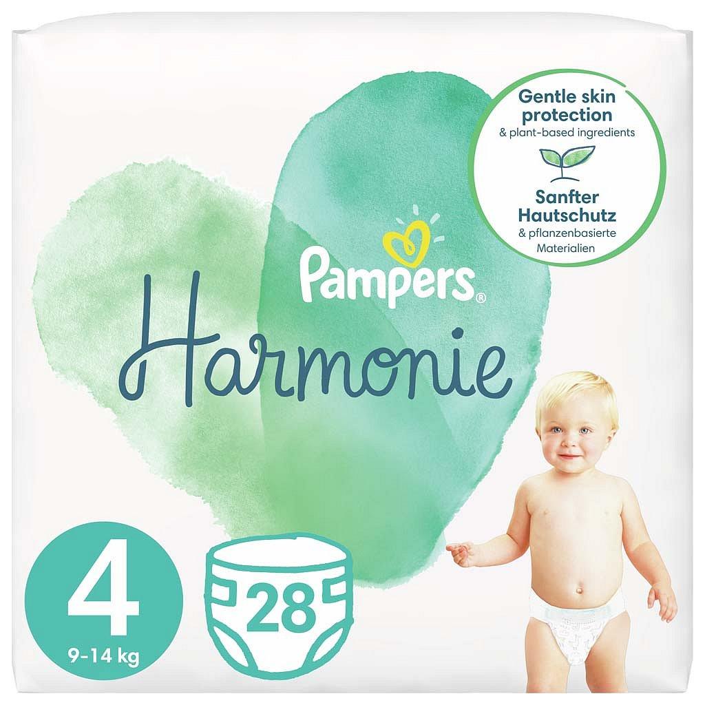 PAMPERS Harmonie Velikost 4, 28 ks, 9-14 kg