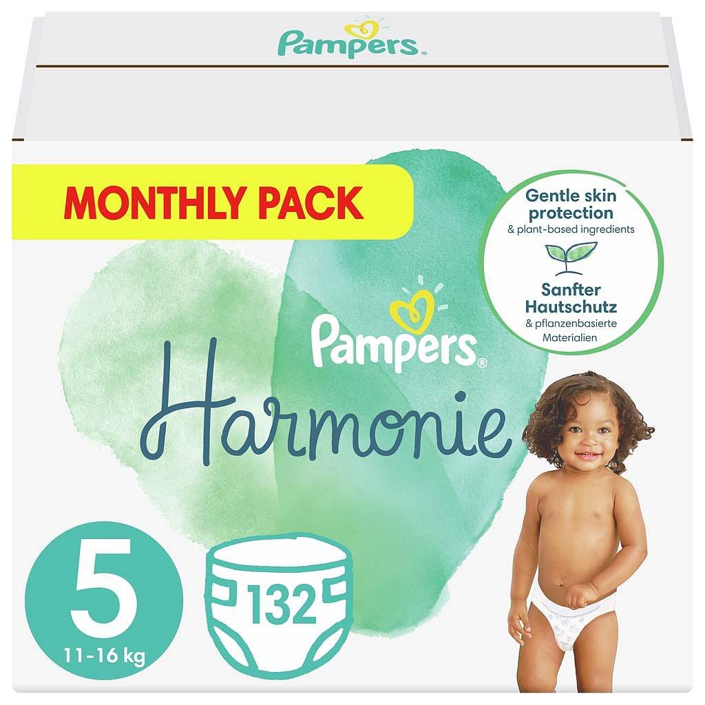 PAMPERS Harmonie Velikost 5, 132 ks, 11-16 kg