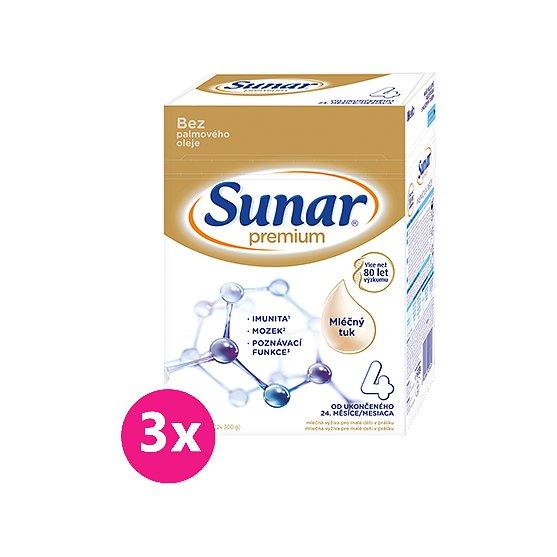 3x SUNAR Premium 4, 600 g