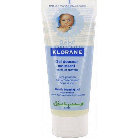 Klorane BEBE dětský pěnivý gel 200 ml