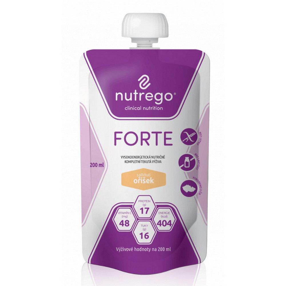 Nutrego Forte s příchutí čokoláda por.sol.12 x 200 ml, Příchuť: Vanilka