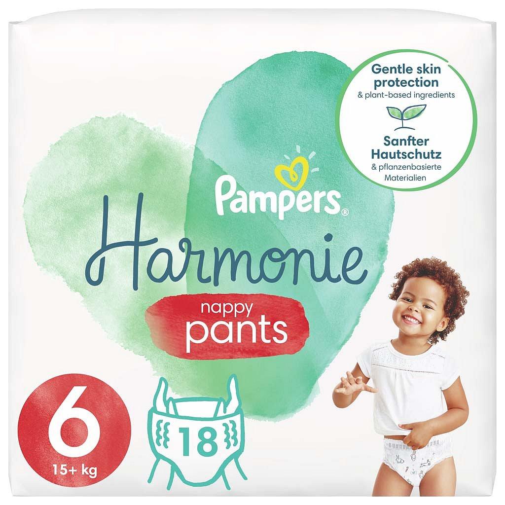 PAMPERS Pants Harmonie Plenkové Kalhotky Velikost 6, 18 ks, 15 kg+