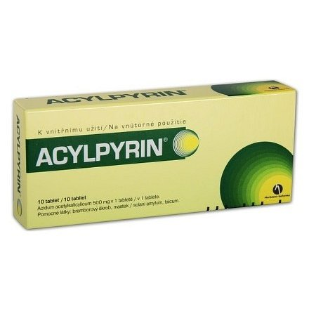 Acylpyrin tablety 10x500mg