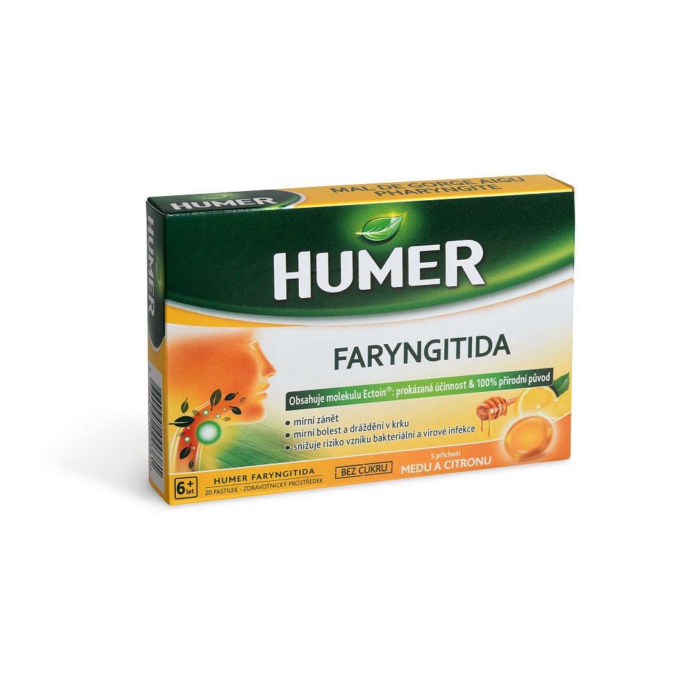 HUMER Faryngitida med a citron 20 pastilek