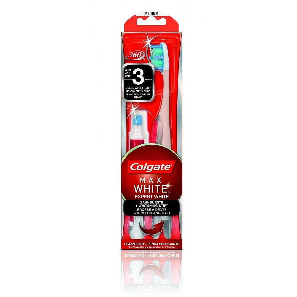 Colgate Max White Expert White střední + bělící pero 5 ml