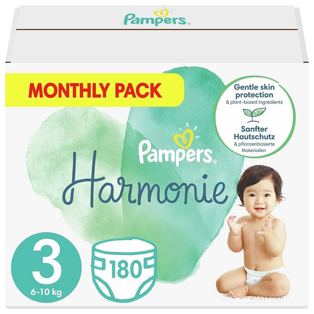 PAMPERS Harmonie Velikost 3, 180 ks, 6-10 kg