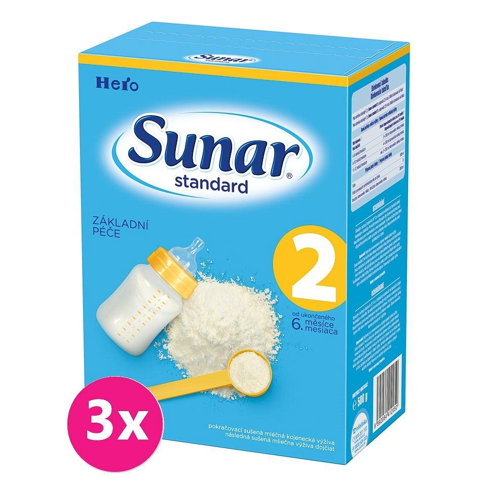 3x SUNAR Standard 2 (500g) – kojenecké mléko