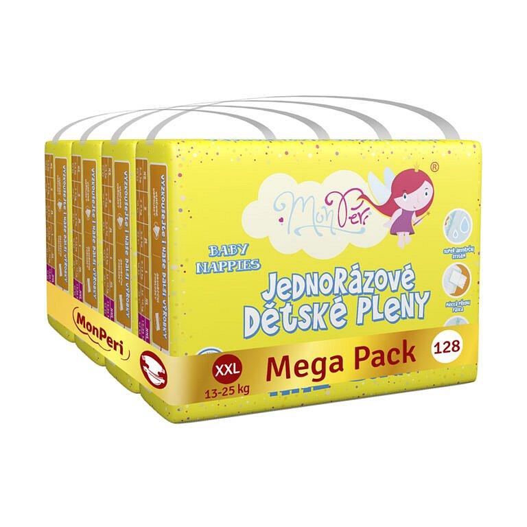 MONPERI Jednorázové pleny Klasik XXL 13-25 kg Mega Pack