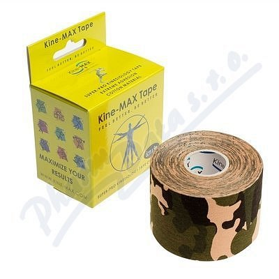 KineMAX SuperPro Cot. kinesiology tape camo 5cmx5m