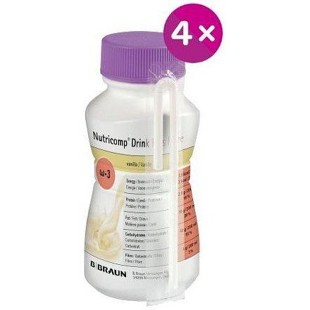 Nutricomp Drink Plus Fibre Vanilka roztok 4x200ml