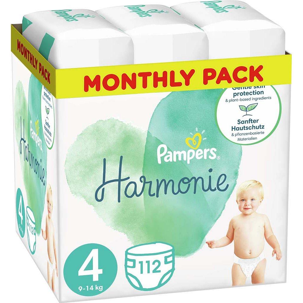 PAMPERS Harmonie Plenky Velikost 4, 112 ks, 9-14 kg
