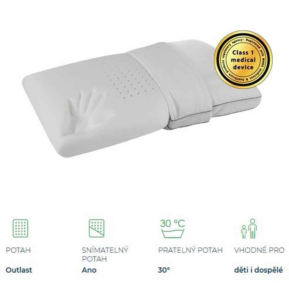 MAGNIFLEX Superiore Deluxe Standard Maxi zdravotní polštář 72x42x15