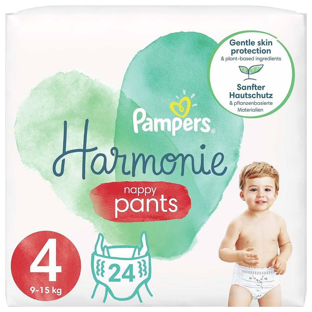 PAMPERS Pants Harmonie Plenkové Kalhotky Velikost 4, 24 ks, 9-15 kg